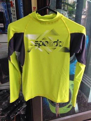 台灣潛水---SPEEDO 長袖上半身防曬衣/水母衣 (男)黃