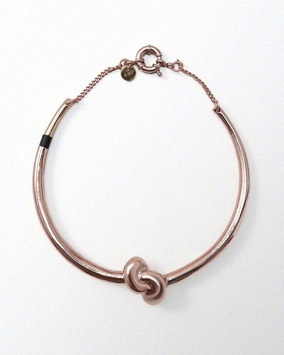 美國百分百【Abercrombie & Fitch】項鍊 頸環 飾品 金屬 電鍍 扣環 AF 麋鹿 玫瑰金 H878