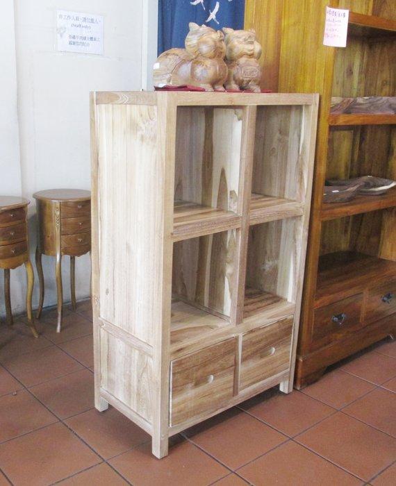 【肯萊柚木傢俱館】100%老柚木全實木 無上漆 手工製作 書櫃 展示櫃 收納櫃 雙面櫃 限量商品