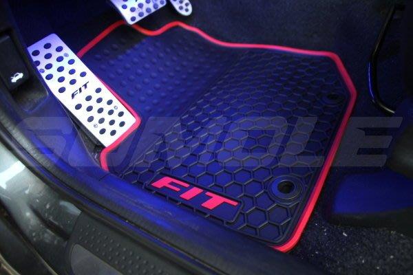 *狗狗的雜貨店*本田 Honda FIT2 FIT 2 專用全車腳踏墊 立體 防水 耐磨 橡膠腳墊 地墊 防水墊 V