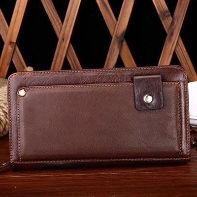手拿 包 真皮 錢包-歐美復古商務精選男包包2色73lu42[獨家進口][米蘭精品]