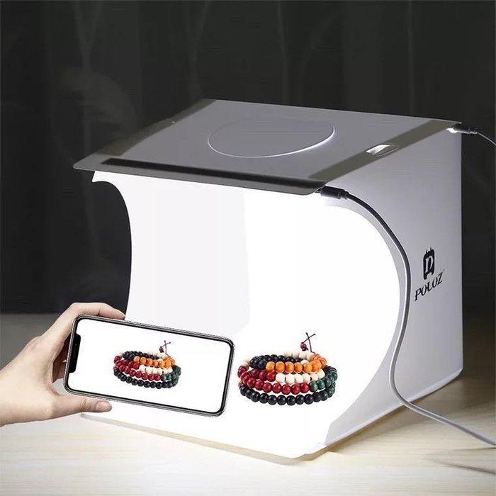 含稅附發票 現貨 PULUZ胖牛 迷你攝影棚 多功能攝影棚 2條LED燈攝影棚 網拍神器