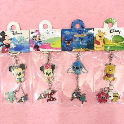 迪士尼 米奇 米妮 史迪奇 維尼  迪士尼鑰匙圈 鐵片鑰匙圈 吊飾