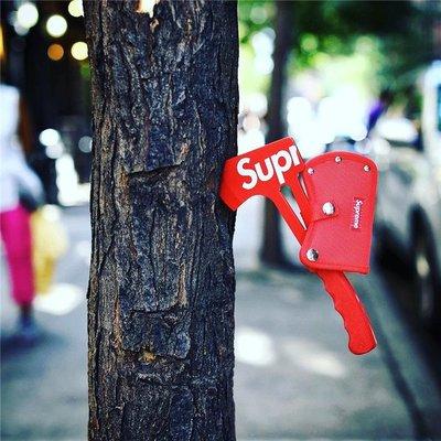 ☆HAru☆ Supreme x SOG Hand Axe 18SS 紅色 斧頭 工具 登山露營 園藝工作
