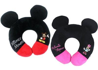 【卡漫迷】 米奇 米妮 頸枕 二選一 ㊣版 U型枕 午休枕 車用枕 Minnie 米老鼠 Mickey Mouse 搭機