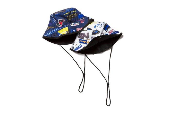 { POISON } PRETTYNICE P.NICE SPORT BUCKET HAT 獨家滿版圖像 抽繩漁夫帽