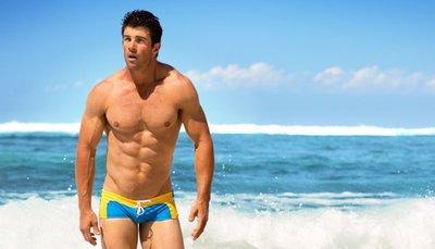 特賣出清原價390【ZS-187】MAN AWARE 新款澳洲風格時尚軟滑四角泳褲 M L XL 號