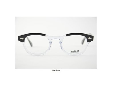 MOSCOT LEMTOSH 經典古著鏡框 強尼戴普 近視鏡框 眼鏡 (黑色半透明)