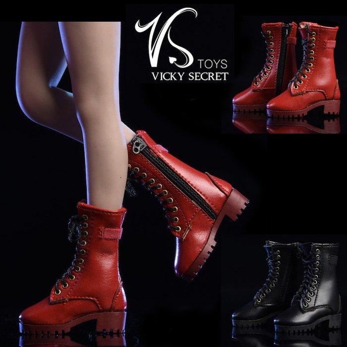 VSTOYS 1/6 拉鍊中靴19XG43 鞋子適合女兵人偶空心鞋皮靴