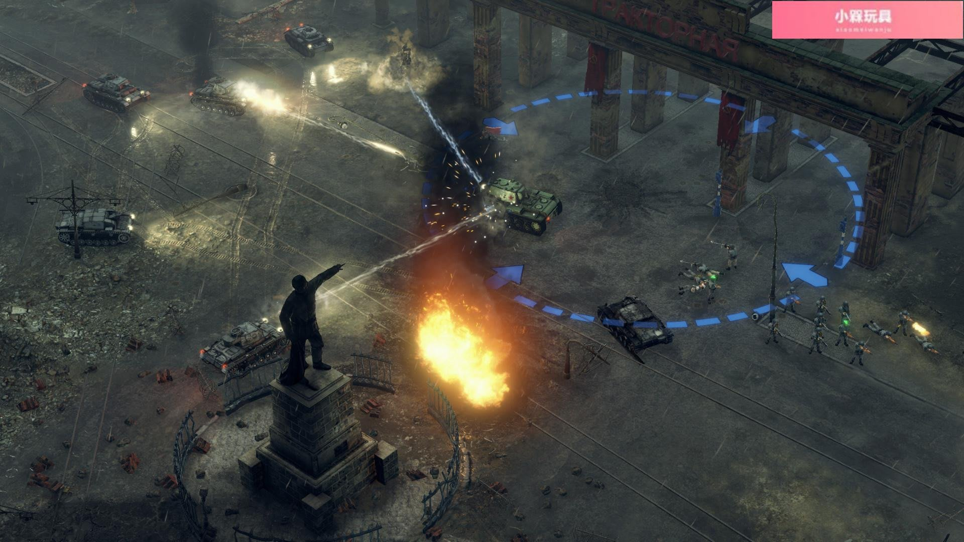 ₪小槑玩具₪PC中文正版Steam Sudden Strike 4 突襲4 RTS策略大作