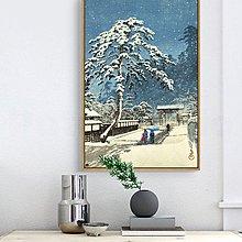 浮世繪川瀨巴水風景居酒屋日式餐廳日料無框有框畫裝飾畫