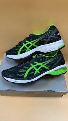 【小黑體育用品】ASICS亞瑟士 GT-1000 5 男款慢跑鞋(黑*螢光綠)T6A3N-9085零碼降價出清