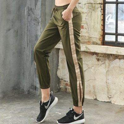 秋季瑜伽服健身服女跑步運動鍛煉長褲新款舞蹈顯瘦開叉收口瑜珈褲