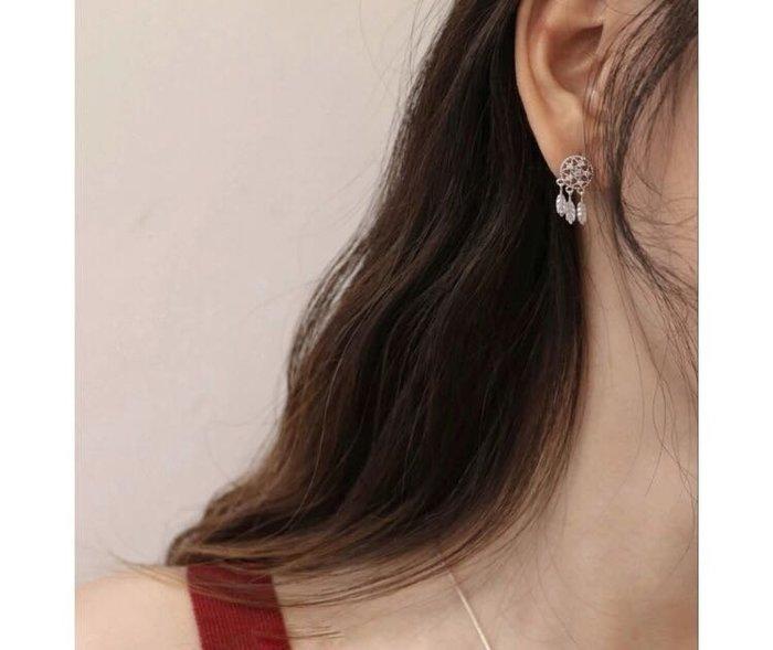 DAFA  捕夢網耳環 925銀針 針式 氣質耳環  現貨~~