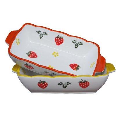 現貨 / 方型草莓焗烤盤 方型烤盤 陶...