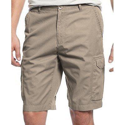 美國百分百【全新真品】Calvin Klein 短褲 CK 休閒褲 工作褲 褲子 五分褲 口袋 卡其色 30腰 G548