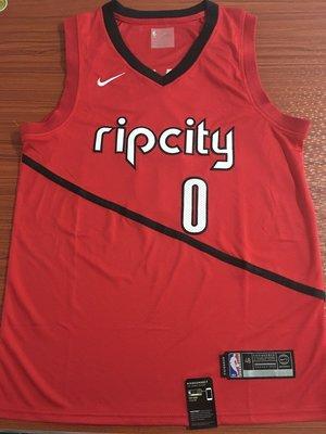 達米安·里拉德(Damian Lillard)NBA2018全明星賽球衣 波特蘭拓荒者隊  里拉德 獎勵板 紅色
