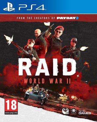 全新未拆 PS4 突襲:二戰 -英文版- RAID WWII 二次世界大戰 劫薪日 Payday