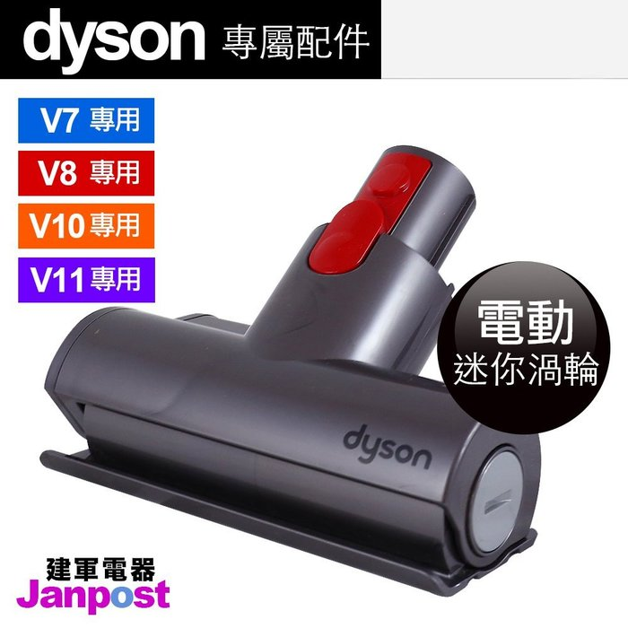 [建軍電器]100%原廠正品Dyson V11 V10 V8 V7 mini 迷你電動渦輪吸頭(除塵蟎 清床墊)