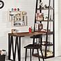 伯恩斯4尺L型書桌+書架😊暖暖屋傢俱傢飾😊...