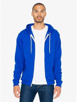 美國名牌 American Apparel男款帽T 藍色XS號