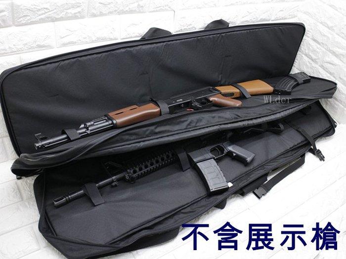 [01] 台製 120cm 雙槍袋 ( 槍盒槍箱槍包槍套槍袋步槍卡賓槍衝鋒槍散彈槍長槍袋BB槍狙擊槍98K M4 AK