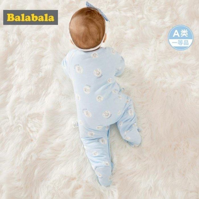 999嬰兒衣服連體衣男哈衣新生寶寶滿月服冬裝睡衣夾棉加厚女01KK12