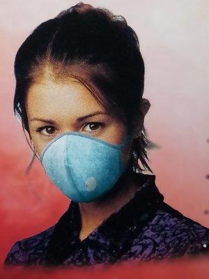 活性碳奈米纖維立體口罩(折疊式)雙功效 五層防護 防粉塵防霧霾防潑水 附空氣閥 呼吸順暢 可水洗重複使用(單入) 現貨