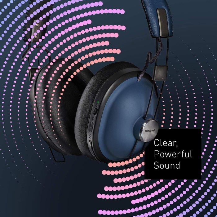 『原廠公司貨』Panasonic 國際牌 RP-HTX90N 復古風格降噪耳機 耳罩式 藍芽耳機 黑 / 藍 / 白色