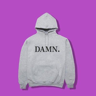 Cover Taiwan 官方直營 Kendrick Lamar DAMN 帽Tee 帽T 灰色 黑色 酒紅色 (預購)