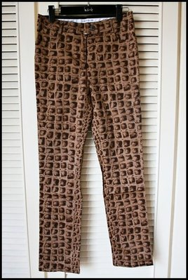 全新專櫃真品Moschino 豹紋鉛筆褲 pencil pants煙管褲drainpipe jeans cigarette pants(原價$19200)