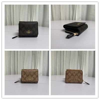 COACH 41302 新款女式真皮三折短夾 皮夾 女夾 錢包