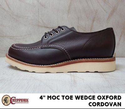 """出清  CHIPPEWA """"MOC TOE WEDGE OXFORD Cordovan Leather 8D 近全新"""
