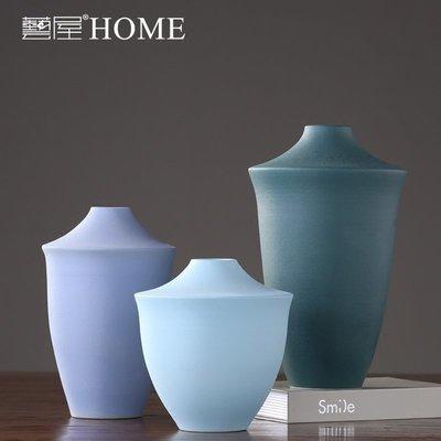 〖洋碼頭〗新中式陶瓷花瓶擺件 客廳玄關插花花器擺設 樣板間彩色創意裝飾品 ywj454