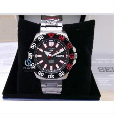SEIKO腕錶日本原廠正品精工手錶 MINI MONSTER  男鋼錶帶時尚自動鏤空機械腕錶潛水錶(SRP487K1)