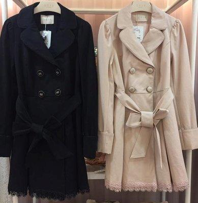 #166~外套控~免運~出清~全新~0918~2017年春夏目錄款風衣外套(黑色)