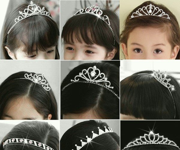 [C.M.平價精品館]部份現貨/閃亮水鑽公主皇冠漂亮女生髮箍