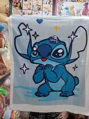史迪奇毛巾 浴巾 史迪奇 閃亮 毯子 史迪奇浴巾~嬰兒浴巾 高雄可自取