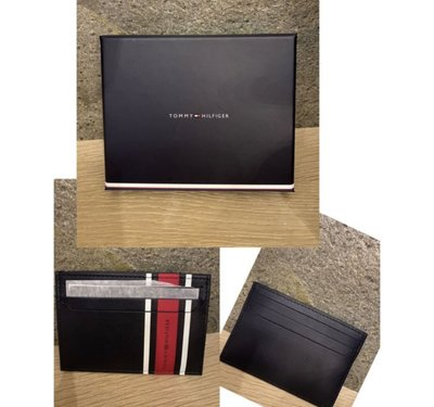 (現貨優惠中,附盒子)TOMMY HILFIGER URBAN STRIPE CARD HOLDER 卡夾