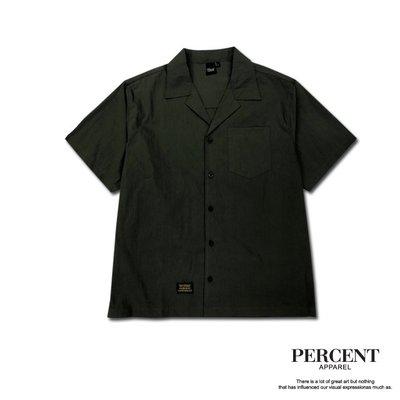 車標短襯衫 綠色 藤原本舖 PERCENT% 短襯衫 襯衫