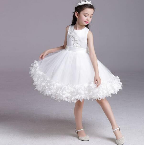 莎芭 花童禮服 畢業洋裝 新款兒童婚紗小禮服  女童禮服裙 女童裝公主裙 蓬蓬裙演出服 100-150cm