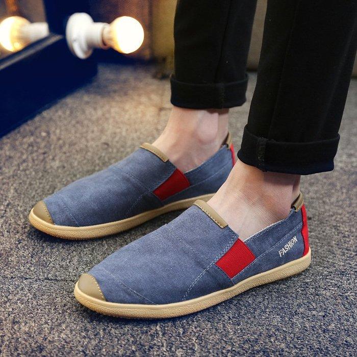 時尚男鞋外貿大碼帆布鞋戶外輕便個性漁夫鞋爆款復古男鞋