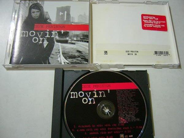 舊CD 英文單曲 Cece peniston西西潘妮絲頓 Movin' on 進口絕版混音單曲5首 保存佳無刮傷近全新)