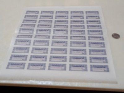 海關總稅務司署進口貨物稅查驗證版張全新共50枚(TC072401-072450)