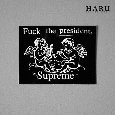 ☆HAru☆ SUPREME FTP STICKER 黑 天使 總統 貼紙 SS17A07BK