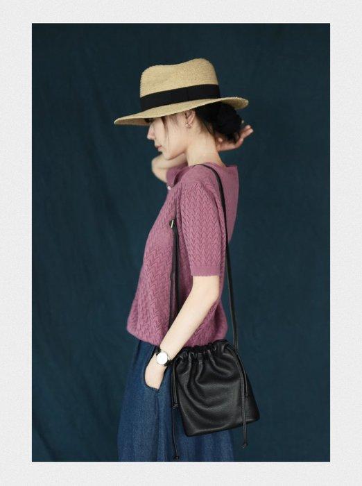 ||一品著衣|| 清淡如水 | 手工鏤空針織衫 織物短袖開衫 LR