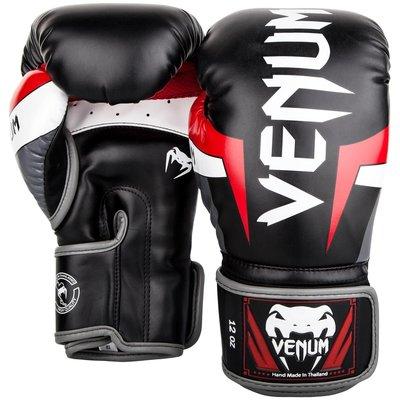 [古川小夫] VENUM Elite 菁英拳擊手套~拳擊 泰拳 MMA格鬥專用 0984 黑 拳套 - 8oz