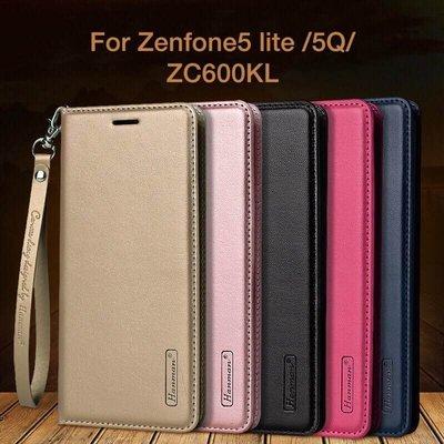 韓曼 ASUS 華碩zenfone5 lite/5Q手機殼ZC600KL皮套硅膠翻蓋式真皮保護套