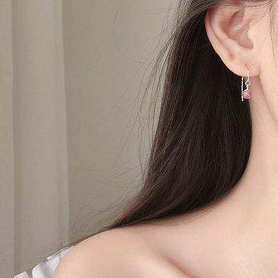 熱賣戀美銀草莓晶短發耳環女耳鉤招桃花運...
