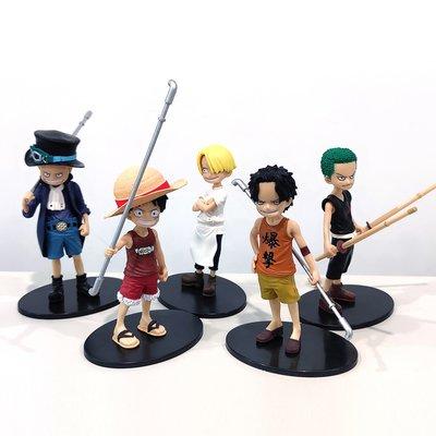 惠美玩品 海賊王 其他 公仔 2011 童年 魯夫 路飛 艾斯 薩博 山治 索隆 五款一套 袋裝